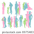 Silhouettes of a Happy Family 8975483