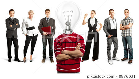 Business Team With Lamp Head 8976031