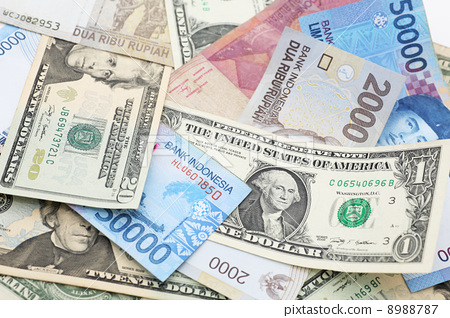 Dollars And Rupiah Overseas Bills