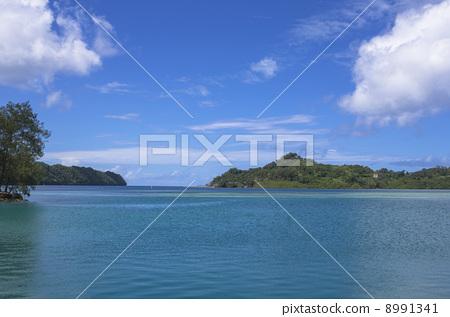 From Palau Republic Koror Island to Arakabesan Island 8991341
