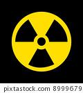 Nuclear Symbol on black 8999679