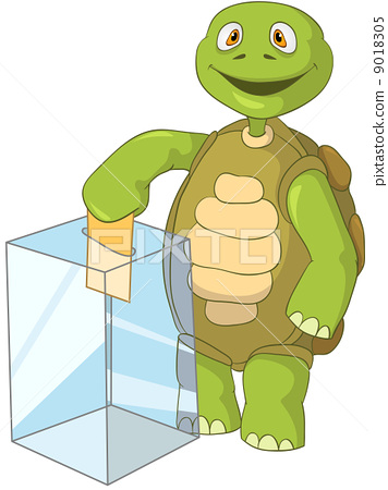 Funny Turtle. Election. 9018305