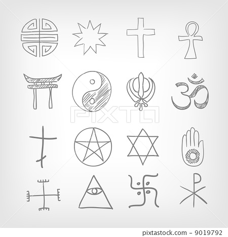 Stock Illustration: Religious symbolism