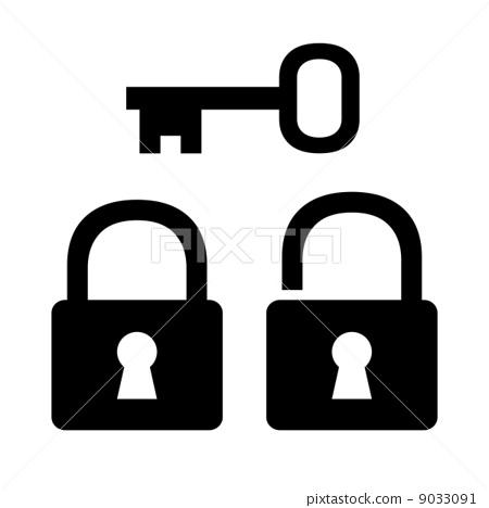 Padlock and key 9033091