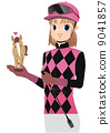 Attention) Costumes and harness of female jockey jockey are not accurate. 9041857