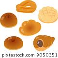 일본의 기본적인 크림 빵 9050351