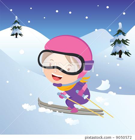 Girl skiing 9050572