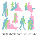 Happy family silhouettes 9056342