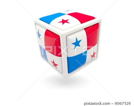 Flag of panama. Cube icon 9067529