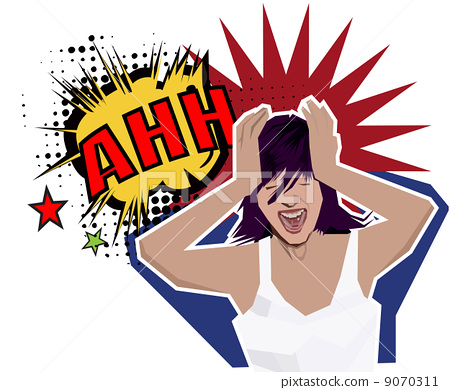 Stock Illustration: ahh