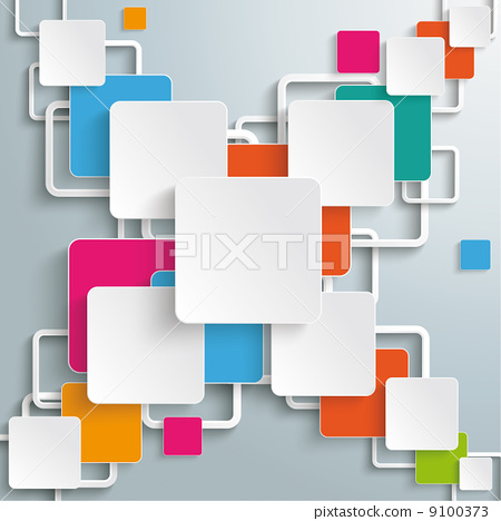 Colorful Rectangles Squares Cross Design 9100373