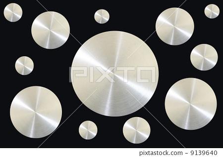 Metal circle on black background 9139640