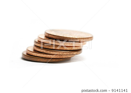 copper coins stacked 9141141