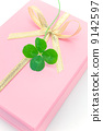 Four leaf clover and a gift 9142597