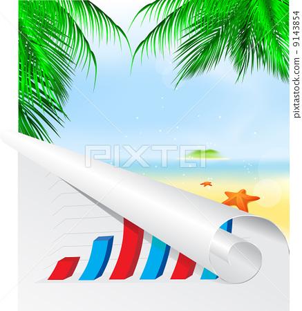 Summer palm beach 9143854