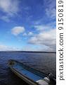 A fishing boat in Lake Abashiri 9150819