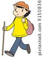 mountain girl, women, cliparts 9150836