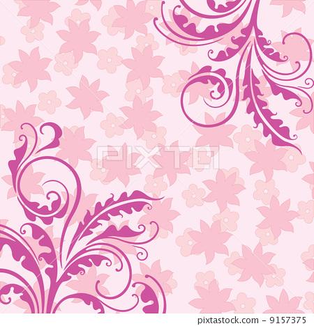 Decorative pink floral background 9157375