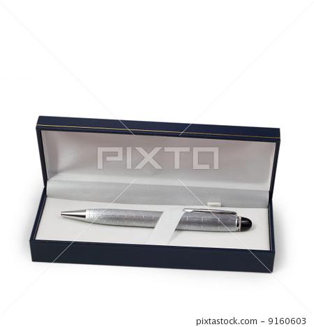 ballpoint silver pen in a gift box 9160603