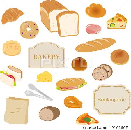 矢量 面包 面包房 9161667