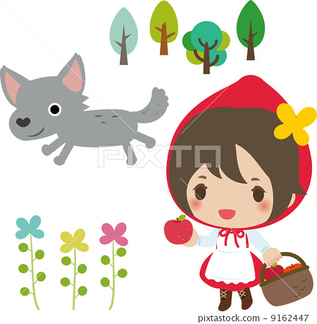 Little Red Riding Hood and a Wolf 9162447