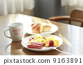 Light breakfast at a soft day's dining room 9163891