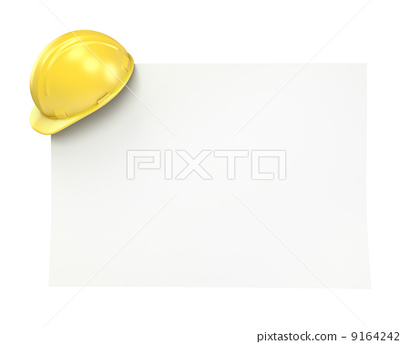 Blank paper with yellow helmet 9164242