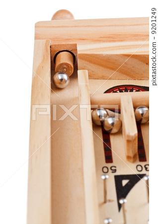 spring tabletop pinball game close up 9201249