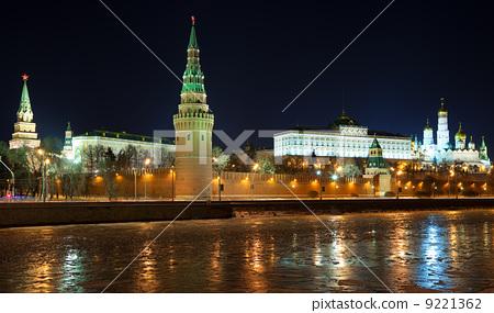 Moscow Kremlin in winter night 9221362