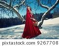 여성, 동결, 숲 9267708