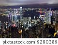 night view of Hong Kong 9280389