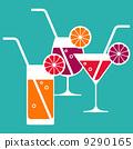Illustration of cocktail glasses 9290165