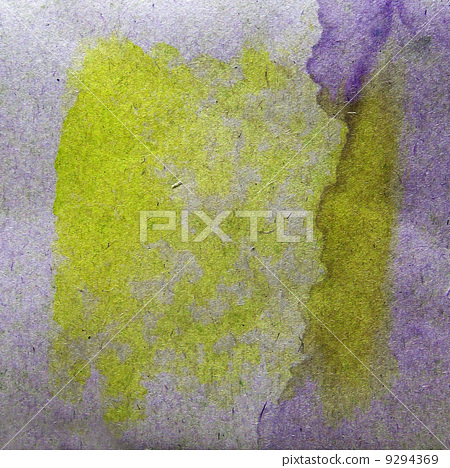 watercolor yellow, purple abstract background paint color blob d 9294369