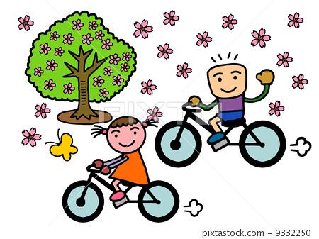자전거 소년 소녀 9332250