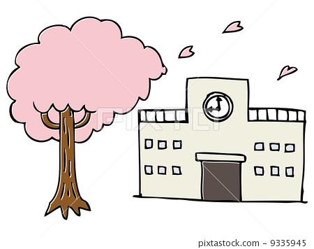 벚꽃과 교사 9335945