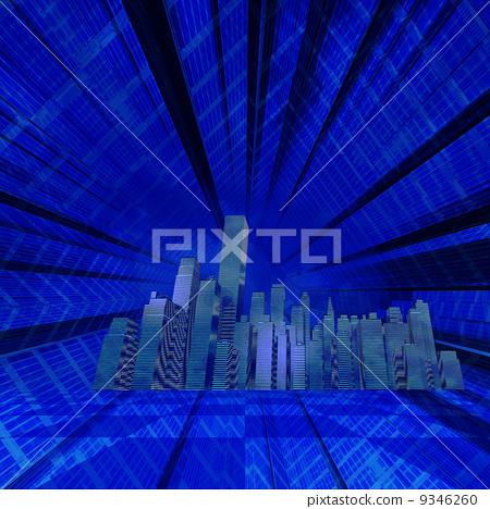 Night skyscraper district 9346260