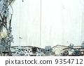 雪の結晶とキャンドルのフレーム 9354712