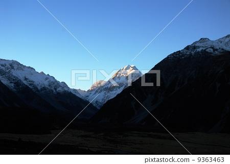 New Zealand Mount Cook at dusk 9363463