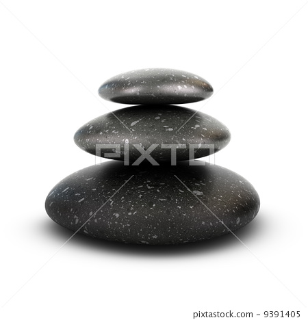 Three Pebbles Stacked, Serenity Concept 9391405