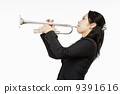 Portrait of a Female Trumpet Player 9391616