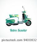 Riding scooter symbol 9400832