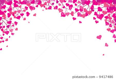 Vector Hearts Border For Valentine S Day Design Stock