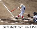 고교 야구 선수의 호쾌한 타격 폼 9424359