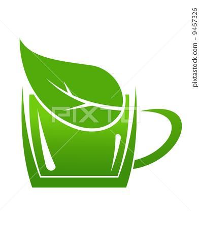 Cup of green bio beverage 9467326