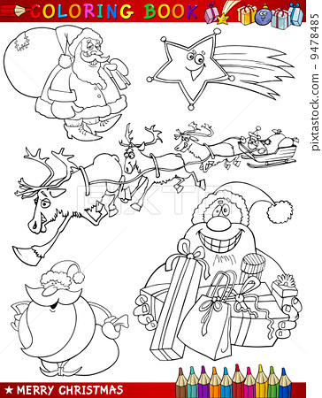 Cartoon Christmas Themes for Coloring 9478485