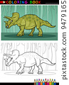 cartoon triceratops dinosaur for coloring book 9479165