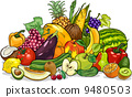 vegetables, cartoon, illustration 9480503
