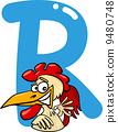 rooster animal alphabet 9480748