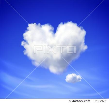 Heart shaped cloud 9505925