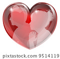 Loving man and woman heart 9514119